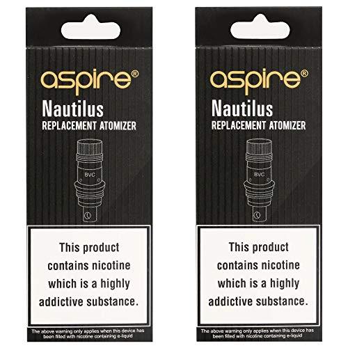 Aspire Nautilus Ersatzspulen, 0,7 Ohm, kein Nikotin oder Tabak, 10 Stück