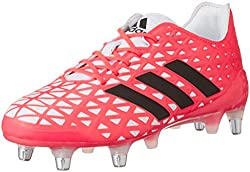 pink and white adidas kakari light rugby boot