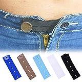 HONEYY Verlängerung für Schwangerschaftshosen, 5 Stück, verstellbare elastische Taillenverlängerung für Schwangere, Nähzubehör (Farbe: Weiß)