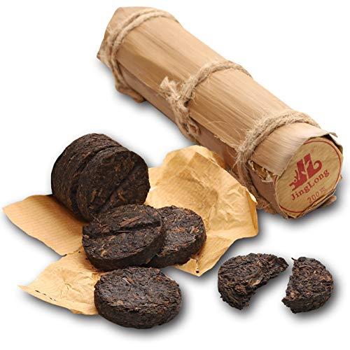 Jinglong Tea Factory - Pu-erh Tea in Bamboo Leaf Tube (80 Cups) Ripe Puerh Tea (7.1 Ounce)