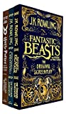 J.K. Rowling Collection 3 Books Set (Fantastic Beasts and Where to Find Them, The Crimes of Grindelwald, Harry Potter and the Cursed Child - Parts One and Two)