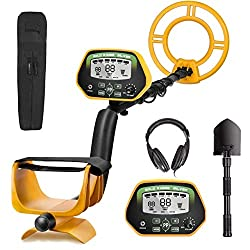 RM RICOMAX Professional Metal Detector GC-1037 Disc & Notch & Pinpoint Modes Metal Detector Waterproof IP68 with High Accuracy Advanced DSP Chip Metal Detectors for Adults with Headphones