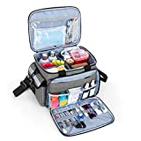 Nurse Bag Empty, First Aid Supplies Organizer, Medical Supplies Bag for Home, Traveling, Camping,...