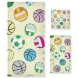 PIXIUXIU - Juego de 3 toallas de algodón altamente absorbentes, de secado rápido, coloridas, para la cara de fútbol, toallas de baño, toallas de mano para uso diario