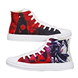NXMRN Naruto Par De Zapatos De Anime Pintados A Mano, Zapatos Vulcanizados para Mujer, Zapatos De Lona, Zapatos De Skate, Zapatos Deportivos-41