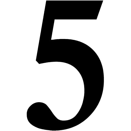 Zahlen Aufkleber Nr 5 In Schwarz I Höhe 10 Cm I Selbstklebende Haus Nummer Ziffer Zum Aufkleben Für Außen Briefkasten Tür I Wetterfest I Kfz 471 5 Baumarkt