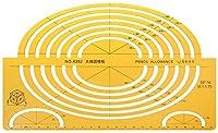 RTUTUR Kレジン楕円起草テンプレート大アイソメトリックルーラーは、ツールの学生を測定します
