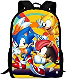 Bolsa para Laptop Unisex Ma-Rio So-Nic The He-dgeHog Backpack Daypack Shoulde...