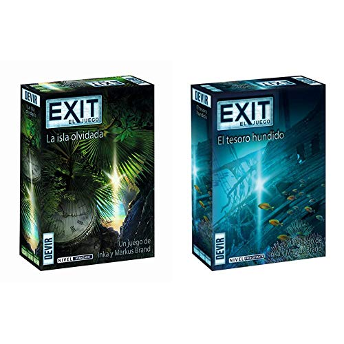 Devir Exit: La Isla olvidada, Ed Español (BGEXIT5), Color/Modelo Surtido + Exit: El Tesoro Hundido, Ed Español (Bgexit7)