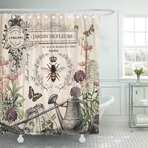 Artsy French Shower Curtains