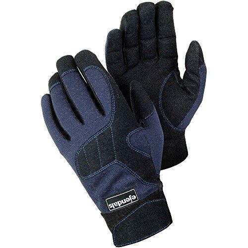 Ejendals Handschuh Tegera 320 aus Synthetikleder, Größe 7, 1 Stück, schwarz/blau, 320-7