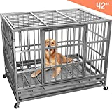 Lemberi Heavy Duty Dog Cage Crate, Pet Kennel Strong Metal for...