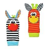 Lubier Baby Toys Rattle - Juego de 4 calcetines de muñeca para bebé (0 – 6 meses)