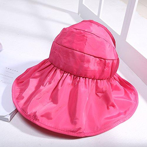 SAIBANGZI Valentijnsdag aanwezig Anti ultraviolette lucht top doek cap haar in de zomer, Roze