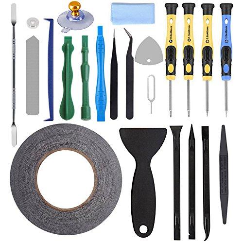 AUTOPkio 23 in 1 Repair Tool Set Kit de herramientas para iPhone 5/6/7/8/iPhonex/11/iPad/Huawei/Samsung, smartphone, multimedia u otros pequeños electrodomésticos