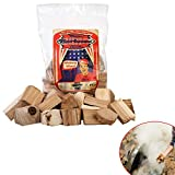 Axtschlag Räucherklötze Hickory, 1500 g XXL Packung sortenreine faustgroße Wood Chunks zum Smoken... minion-ring-51wBc6VqETL-Minion-Ring Methode – Wie man den Kugelgrill low & slow einregelt