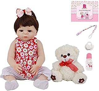Realistic born-again doll 19 '' / 48cm Bebe Doll Girl simulation Soft silicone vinyl Hand made again born infants magnetic...