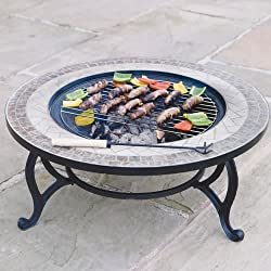 Combined Fire Pit (76cm) and Coffee Table -