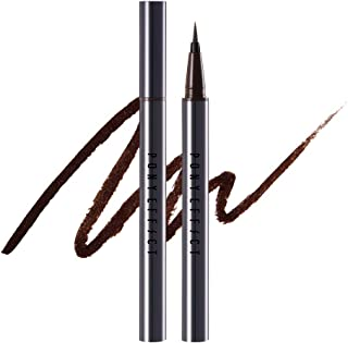 PONY EFFECT Inkfit Brush Liner | #Deep Brown | Brush Eyeliner, Smudge-proof, Long-lasting | K-beauty