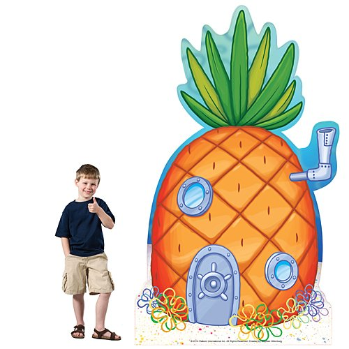 7 ft. 6 in. Spongebob Squarepants Pineapple Standee Standup Photo Booth Prop Background Backdrop Party Decoration Decor Scene Setter Cardboard Cutout