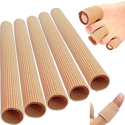 5 Stück Silikon Zehenschutz Schlauchbandage Fingerbandage Fingerschutz Gel Zehenpolster 15x2cm