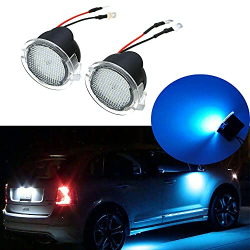PUOU 2PCS NEW LED Side View Under Mirror Puddle Light For Ford F150 Toyota...
