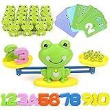 GILOBABY Montessori Mathe - Báscula de juguete educativa, cuenta y cálculo con báscula y accesorios, diseño de rana de animal, juguete para niños a partir de 3 años