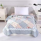 Alicemall - Colcha de verano para cama individual con diseño tipo patchwork 150 * 200 cm