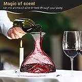 Decanter,Baban Wein Dekanter, 1L Rotwein Bleifreies Glasdekanter, Dekantiergefäß Glasbelüftungsweinkaraffe, Perfektes Geschenkset Dekantierer für Weihnachten Weinliebhaber - 2