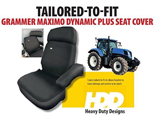 Heavy Duty Designs Traktor 2/Gro/ßes Schwarz Wasserdicht Stoff Sitzbezug