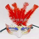 CZDXM Maskerade Maske Maske Party Requisiten Weiße Maske Männer und Frauen Kinder Flache Maske Rot...