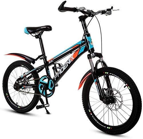 20-Zoll mit Variabler Geschwindigkeit Mountainbike, Kinderfahrrad bequemer Sattel, rutschfestes Pedal, Federgabel, sicher und einfühlsam Brake, (Color : A, Size : 20 inch)