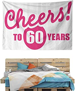 HuaWuChou Happy Birthday Cheers Tapestry Unique, Tapestry for Men, 59W x 39.3L Inches