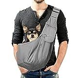 Transportín para Perros Pequeño, Bolso Mochila De Hombro con Correa Bolso Bandolera Ajustable para Perro Pequeño Gatos Chihuahuas Mascotas (Adecuada para Menos De 10 kg)