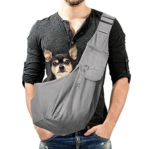 Lyneun Hundetragetasche Haustier Verstellbare Umhängetasche Transporttasche für Haustiere,Atmungsaktive Transporttasche für Katzen und HundeGeeignet für Haustiere innerhalb von 10 kg