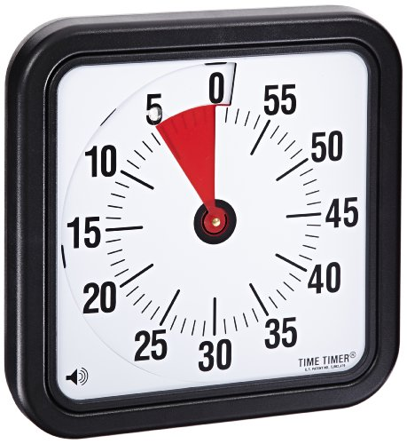 Time Timer Audible Countdown Timer, 12 Inches, Black - TTA2-W