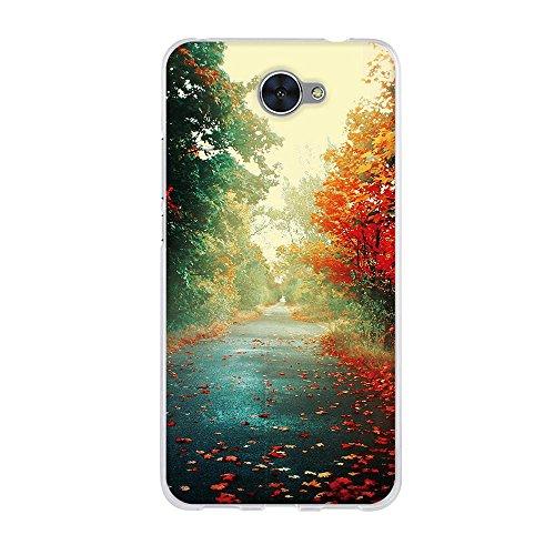 fubaoda,Premium Hülle für Huawei Y7,Transparente & Feine TPU Silikon-Schutz,Schöner Herbst-Druck,[Kratzfest] [Staubdicht] Hochwertiger Schutz mit Herausragendem Handyhülle für Huawei Y7 (5.5