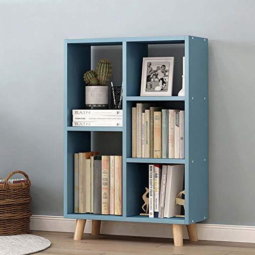 Boekenplank LVZAIXI Houten Lange Display Stand Studierek Blauw