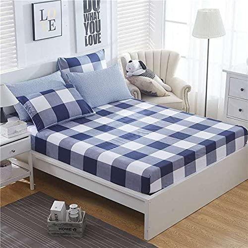 XGguo Protector de colchón de Rizo algodón y Transpirable Sábana de algodón Antideslizante Comfort-9_150x200cm