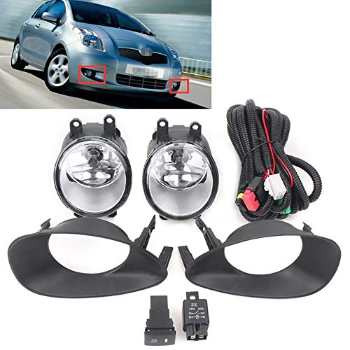 Auto Fog Rijverlichting Bumper Fog Lamp Kit for Toyota Yaris Hatchback 2006 2007 2008