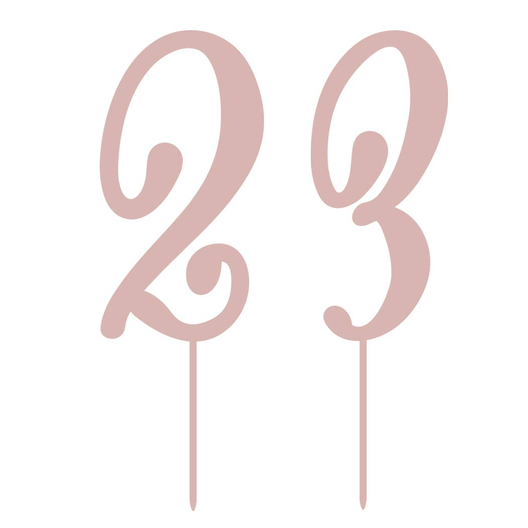 Personalised Happy Birthday Cake Topper Decorations with Birthday Party Cupcake Balloons for Birthday Cake Fuyamp 23 Pcs Rose Gold Cake Toppers