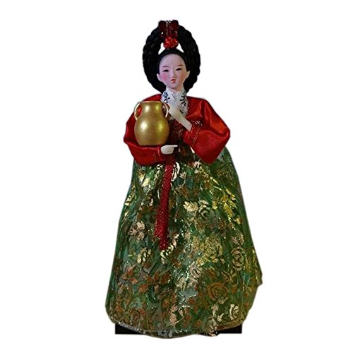 Blancho Ameublement Articles Oriental Poupée coréen Antique Costume Doll, No.6
