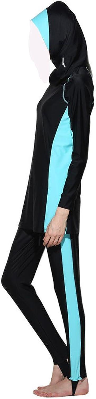 ZS  Hijab Detachable Muslim Swimsuit Islamic Modest Swimwear Beachwear Burkini Burqini