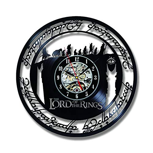 YINU Limited Klok Vintage Wall Clock Design The Lord Of Rings Theme Vinyl Record Clocks Hanging Watch Home Decor Silent 12 Inch