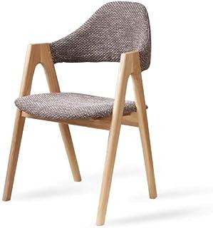 Mesa Comedor con sillas Cocina Silla Comedor Modernas Silla nordicas blancasmadera Oficina Silla Lounge Respaldo Silla de Comedor marrón (Color : Brown)