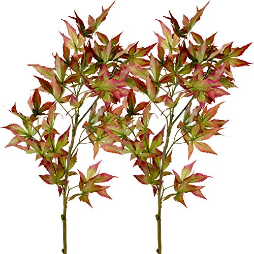 Rinlong Artificial Maple Leaves Branches Autumn Fall Leaves Foliage Decor