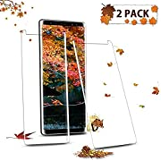 FURgenie Compatible Samsung Galaxy S8 Plus Screen Protector,[2Pack] 3D Screen Coverage,[9H Hardness] 12.05