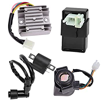 Ignition Coil 6 Pin CDI Voltage Regulator Rectifier Solenoid Relay Kit for 150cc 200cc 250cc Engine Chinese ATV Quad