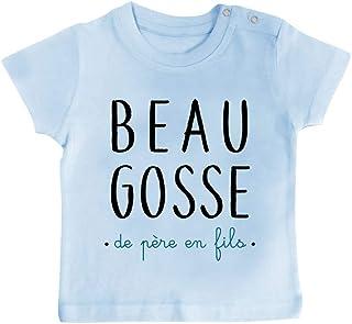 76d601afc Inconnu - T-Shirt bébé Beau Gosse de père en Fils
