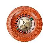 HJUI Set di Ruote della Roulette in Legno, Ruota della Roulette Professionale Ruota della Roulette Europea, Perfetto per Una Serata di Gioco A Casa O Una Festa in Un Club
